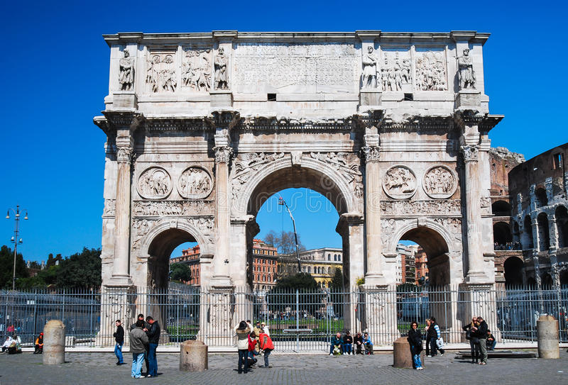 Свод Константина, Рима стоковое изображение rf