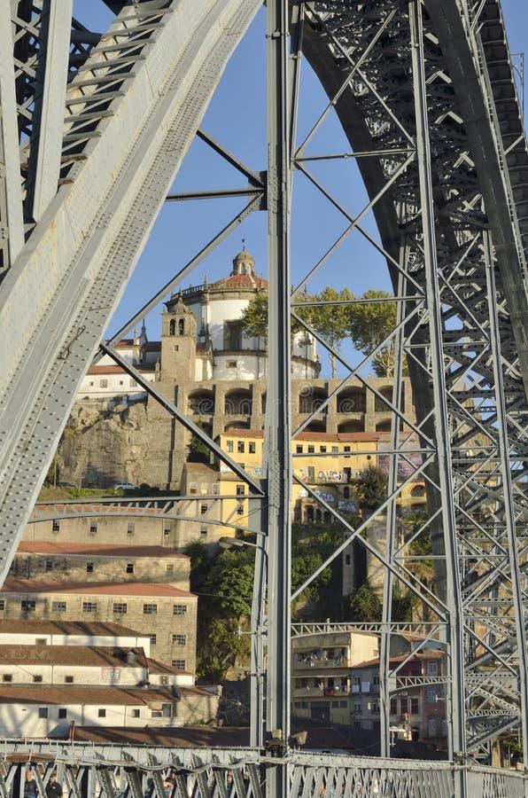 Свод моста Дон Луис стоковое фото