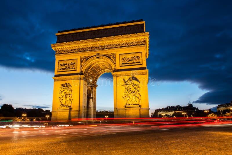 Свод триумфа, Париж стоковая фотография rf