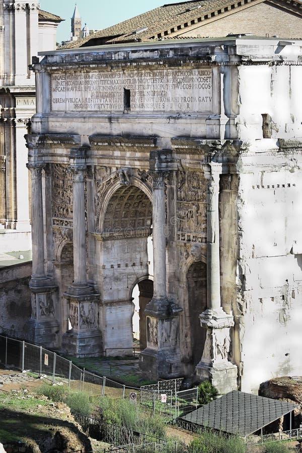 Свод Septimius Severus в Риме стоковая фотография rf