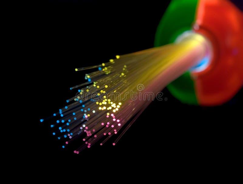 свяжите оптическое волокно стоковое изображение