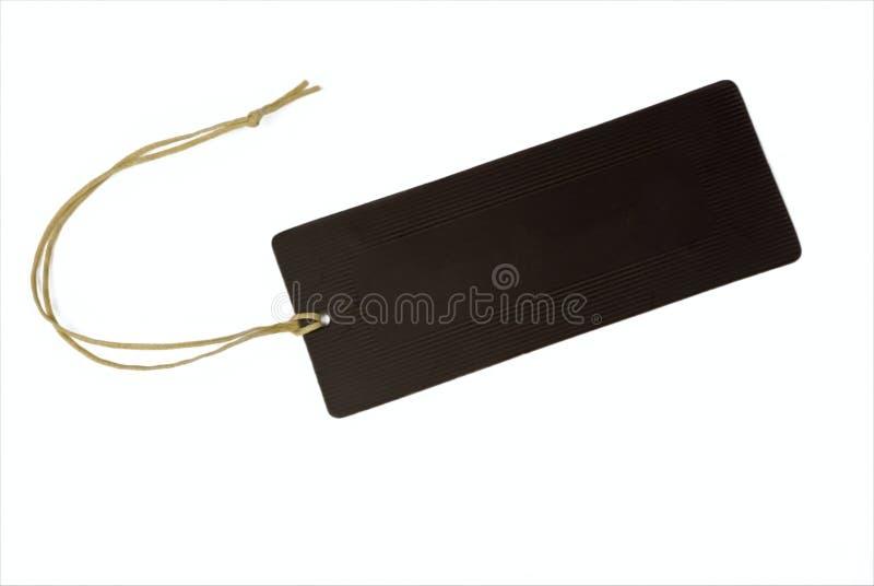 связанная бирка пустого шнура стоковая фотография