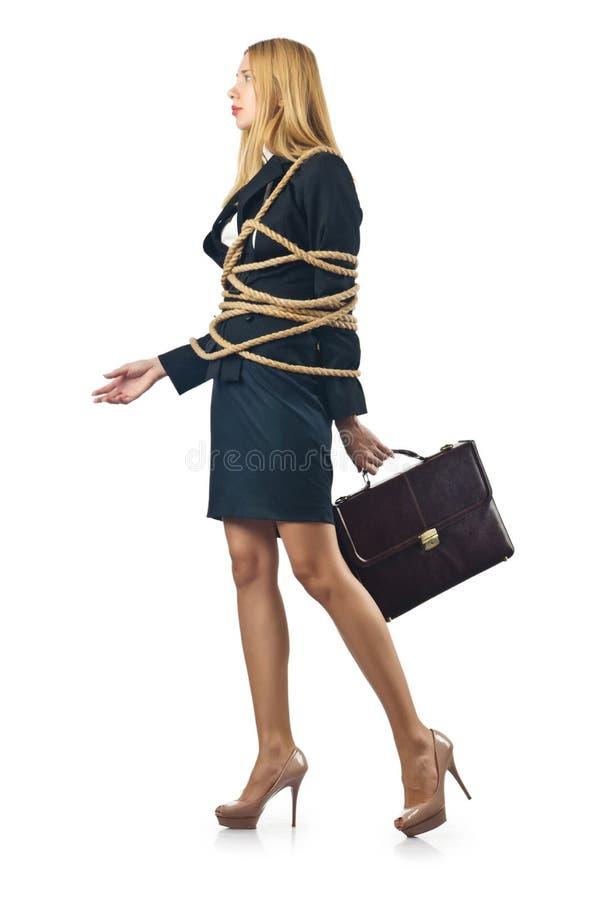 Связанная женщина стоковое изображение rf