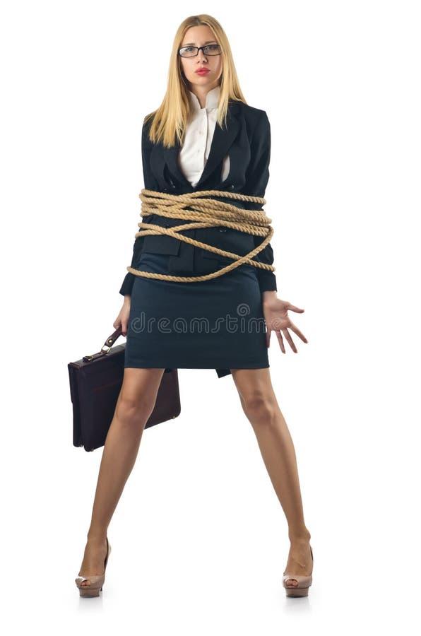 Связанная женщина стоковые фото