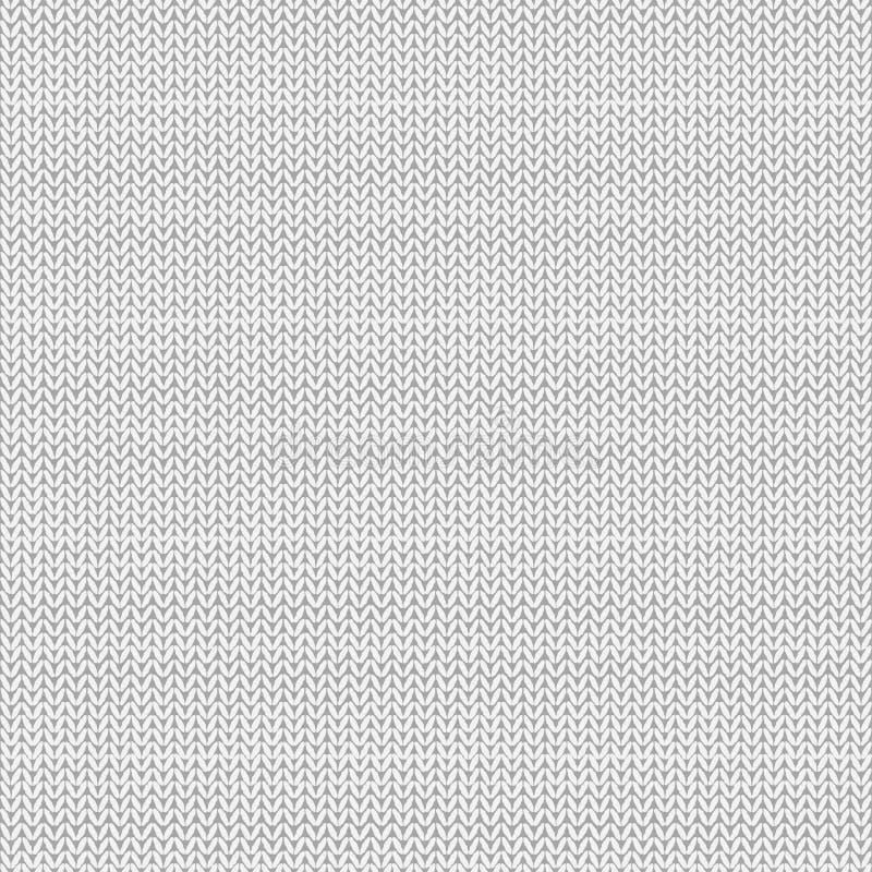 связанная картина безшовная Белая предпосылка knit Абстрактный фон вектор иллюстрация вектора