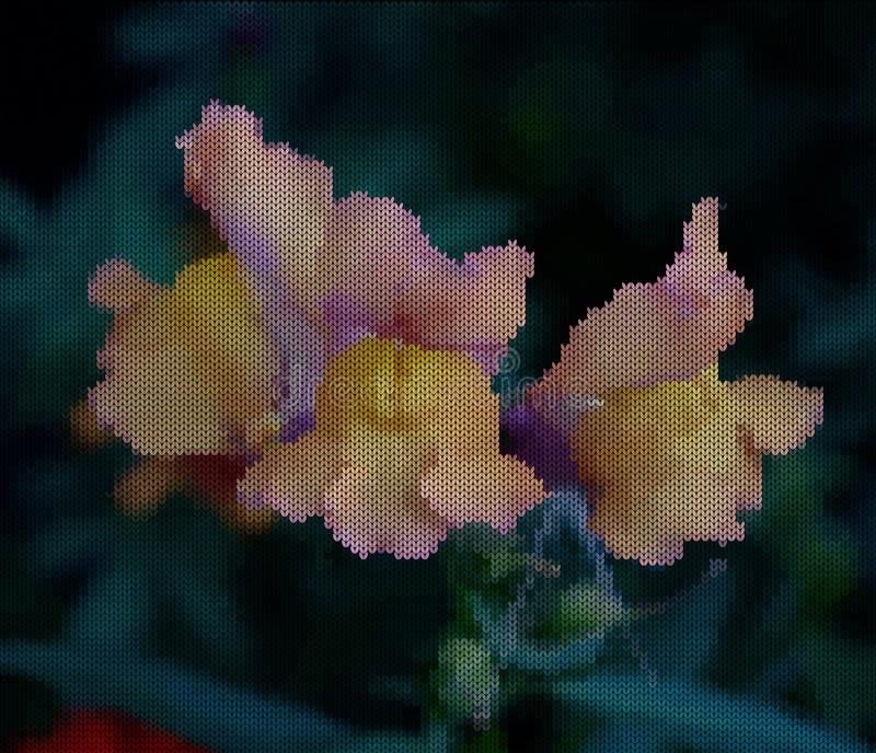 Связанная предпосылка - цветки Желтая сирень цветет с зелеными ветвями и листьями Имитация естественной предпосылки бесплатная иллюстрация