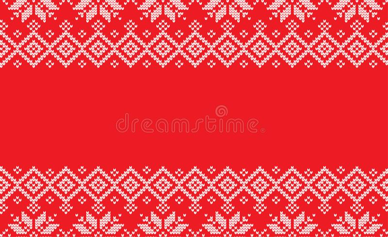 Связанное шерстяное картины зимы праздничным связанное рождеством стоковая фотография