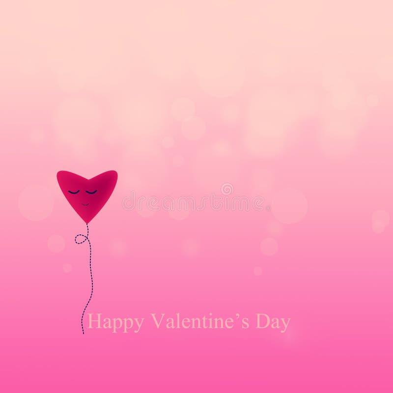 связанный вектор Валентайн иллюстрации s 2 сердец дня иллюстрация вектора