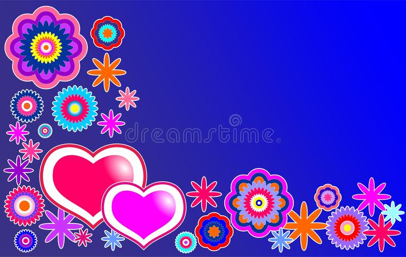 связанный вектор Валентайн иллюстрации s 2 сердец дня стоковое изображение rf