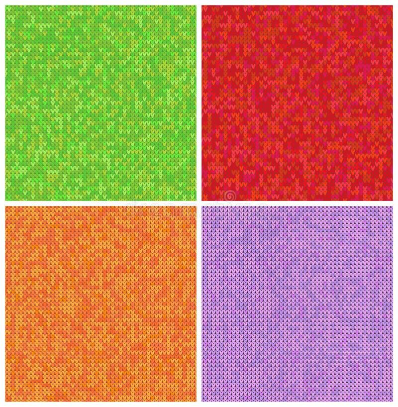 Связанный набор картин Реалистические предпосылки образцов Геометрические орнаменты, скандинавские свитеры привязывают текстуру с бесплатная иллюстрация