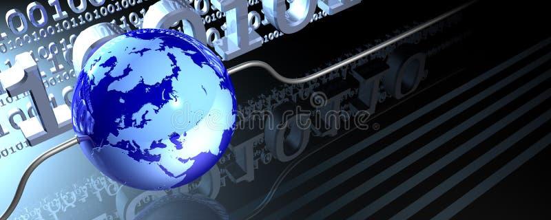 связанный проволокой глобус знамени иллюстрация штока