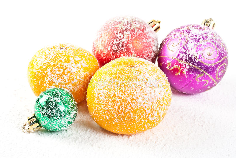 связанный снежок украшений рождества стоковые фото