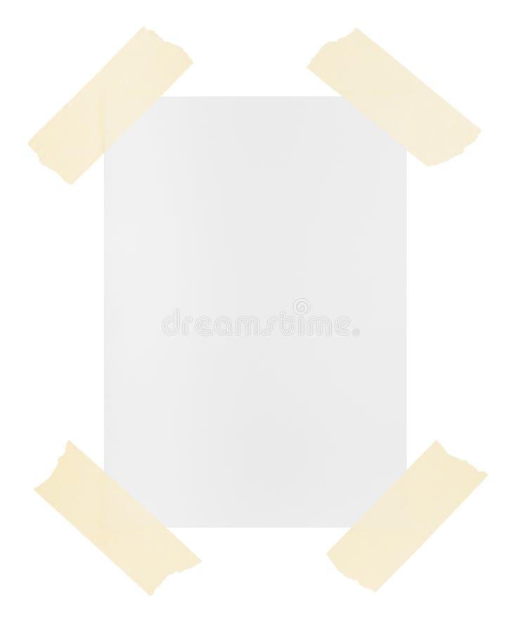Связано тесьмой вниз с пустой бумаги стоковое изображение rf