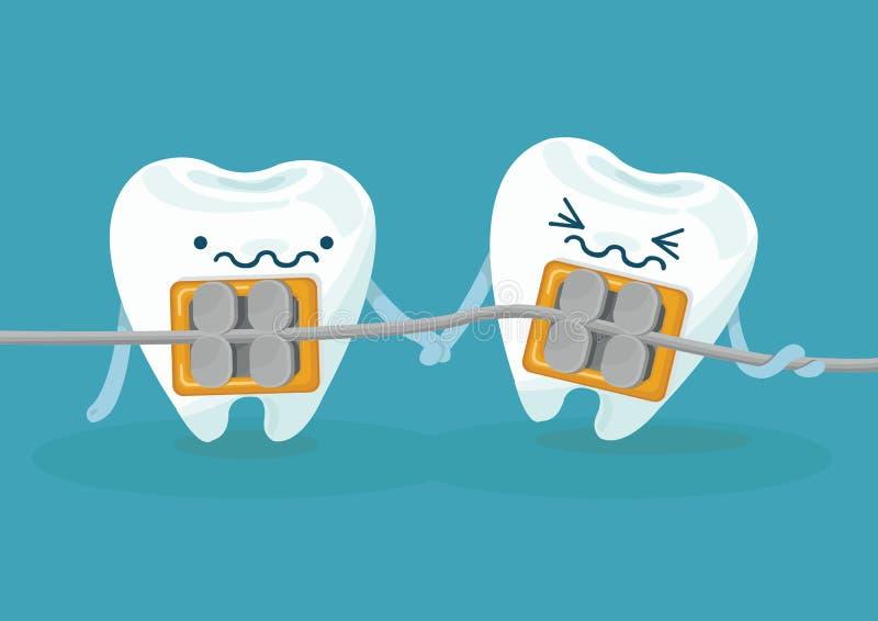 Связывает зубы иллюстрация вектора