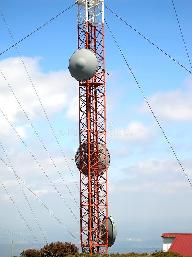 связь антенны стоковая фотография rf