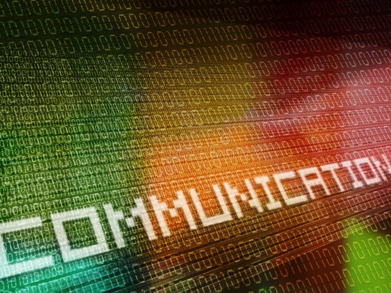 связь бинарного Кода покрашенная multi иллюстрация штока