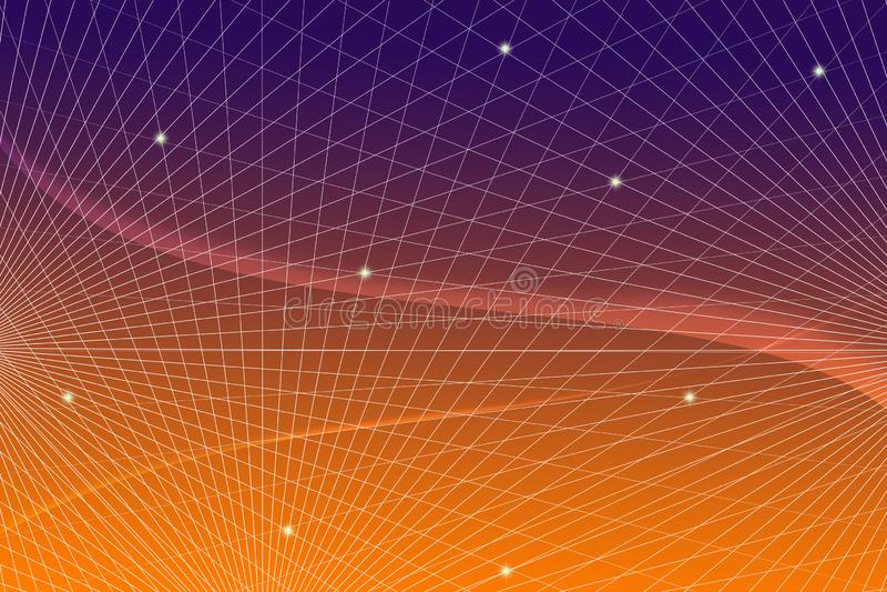 Связь информационной технологии предпосылки сети сети градиента решетки научная проектируя стоковое фото