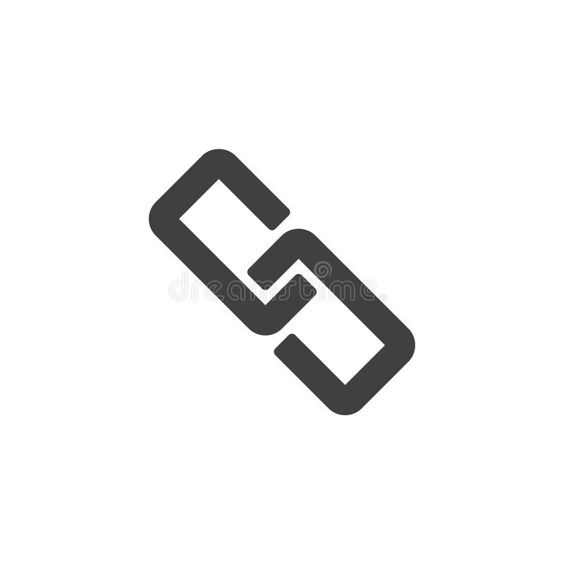 Связь, цепной значок вектора иллюстрация вектора