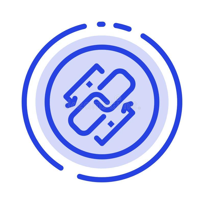 Связь, цепь, Url, соединение, линия значок голубой пунктирной линии связи бесплатная иллюстрация