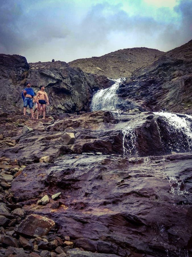 святая ванна в Гималаях стоковое изображение rf