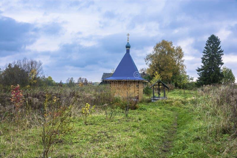 Святая весна значка матери бога рождества Isakovsky самой святой матери бога в деревне Pustyn стоковое изображение rf