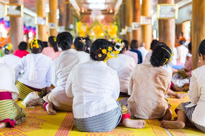 Святая церемония Таиланда стоковые фотографии rf