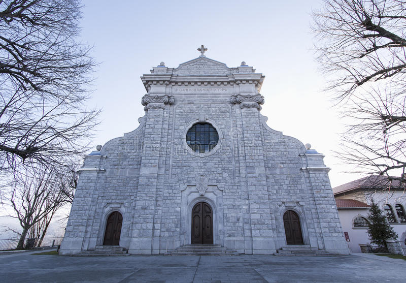 Святая церковь горы стоковые изображения