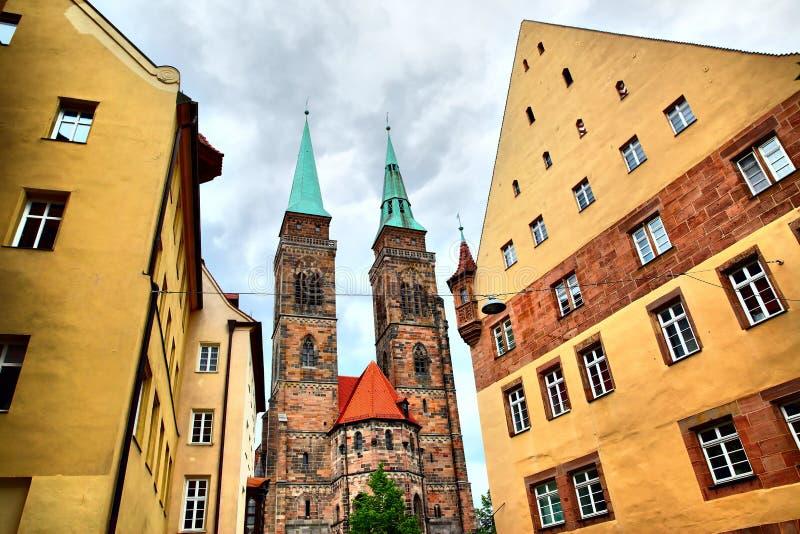 Святая церковь Sebaldus в Нюрнберге стоковое фото rf