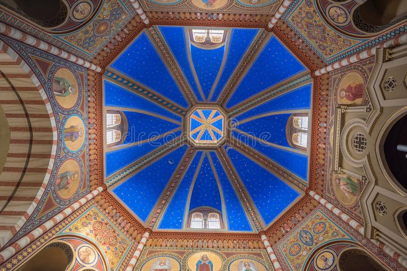 Святая Mary приняла церковь - купол стоковые фотографии rf