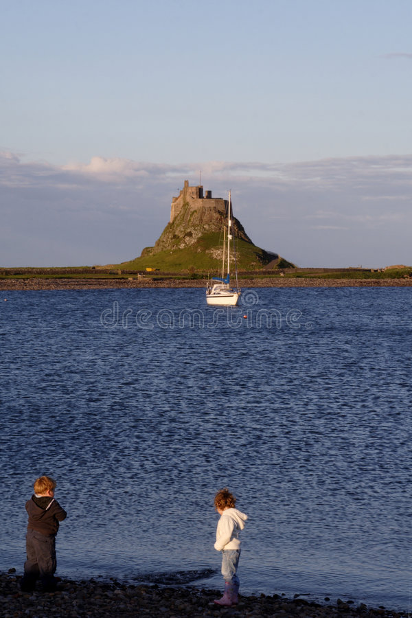 святейший остров northumberland стоковая фотография rf