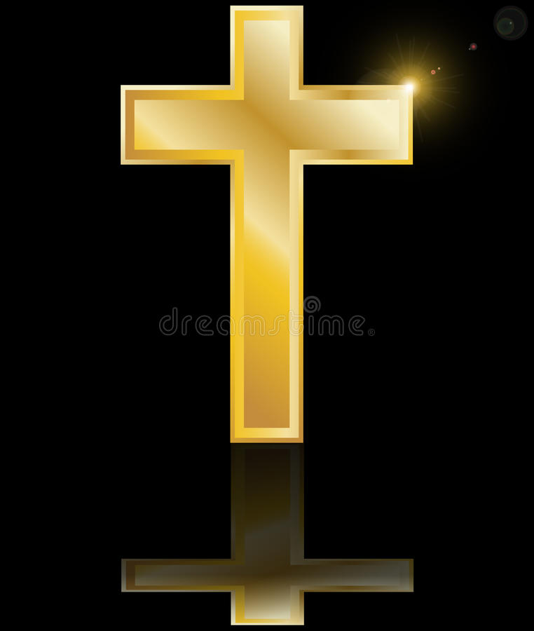 Святейший перекрестный символ христианского веры на blac иллюстрация вектора