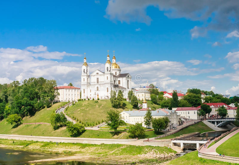 Святейший собор предположения Витебск, Беларусь стоковые изображения