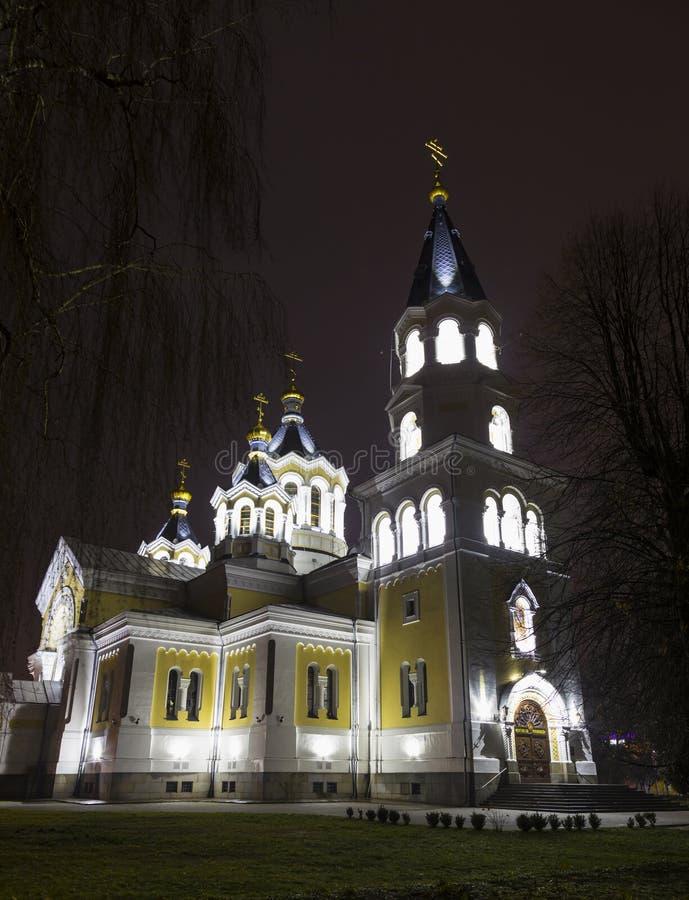 Святейший собор Transfiguration Zhitomir Zhytomyr Украина стоковые фото