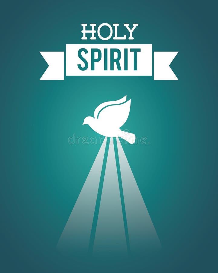 святейший дух иллюстрация вектора