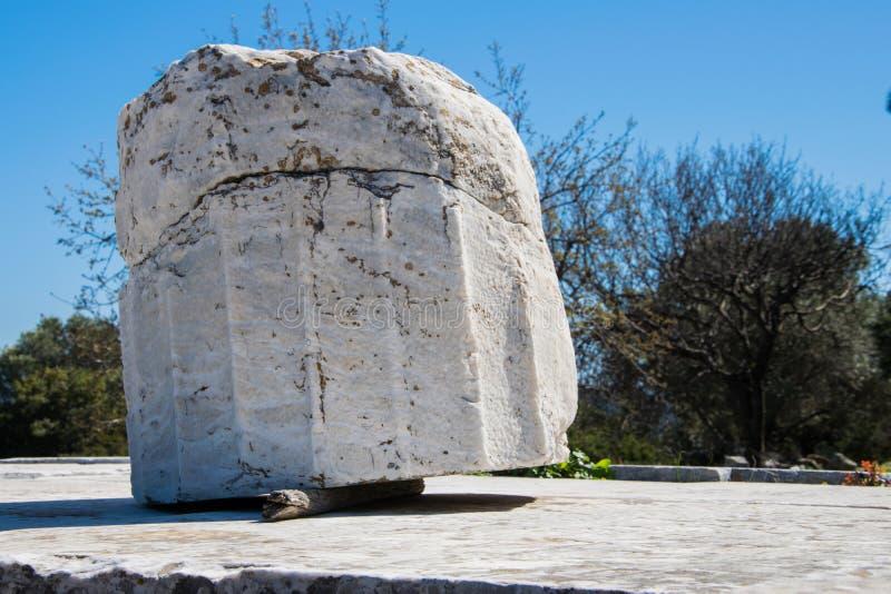Святилище Немезиды на Rhamnous в норд-осте Attica в Греции стоковое фото