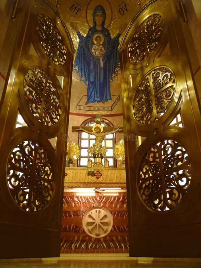святилище церков внутреннее правоверное стоковая фотография rf