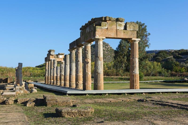 Святилище Artemis на Brauron, Attica - Греции стоковое фото