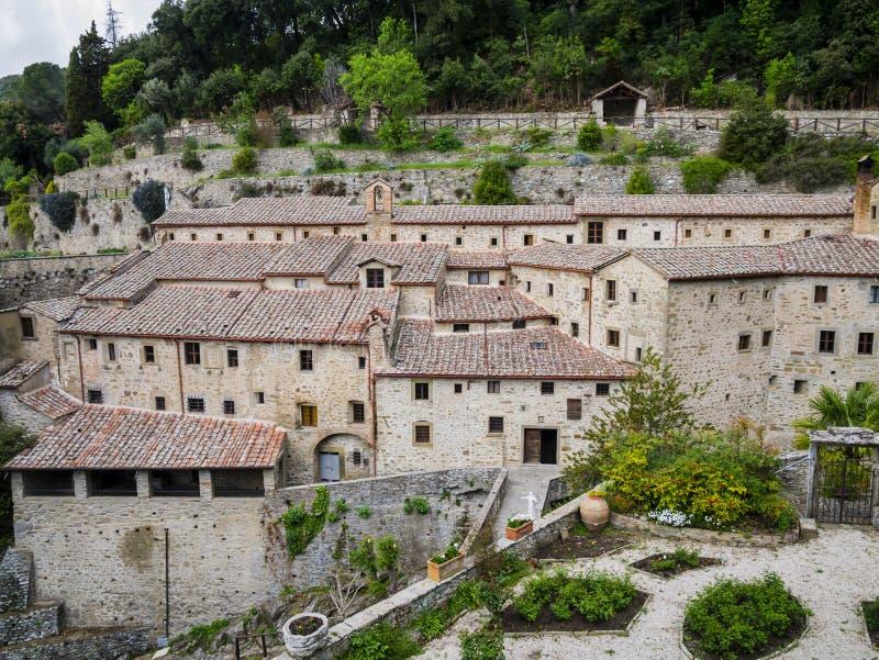 Святилище Le Celle, францисканский монастырь в Cortona, Тоскане, Италии стоковое изображение
