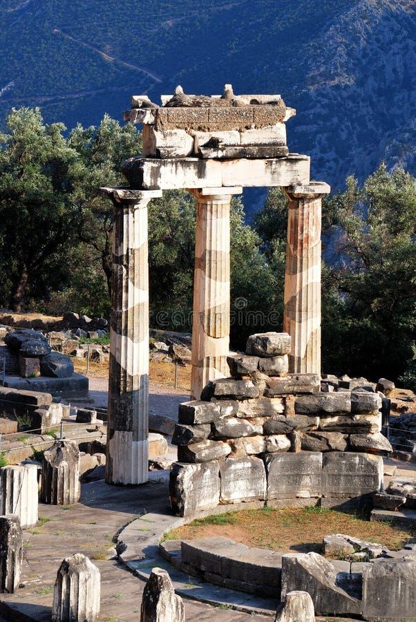 святилище pronaia Афины delphi Греции стоковая фотография