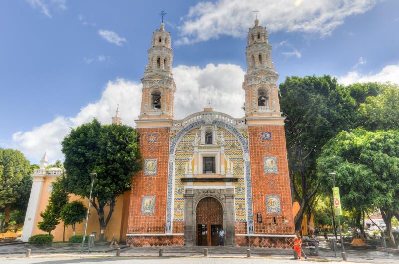 Святилище нашей дамы Guadalupe - Пуэбла, Мексики стоковая фотография rf
