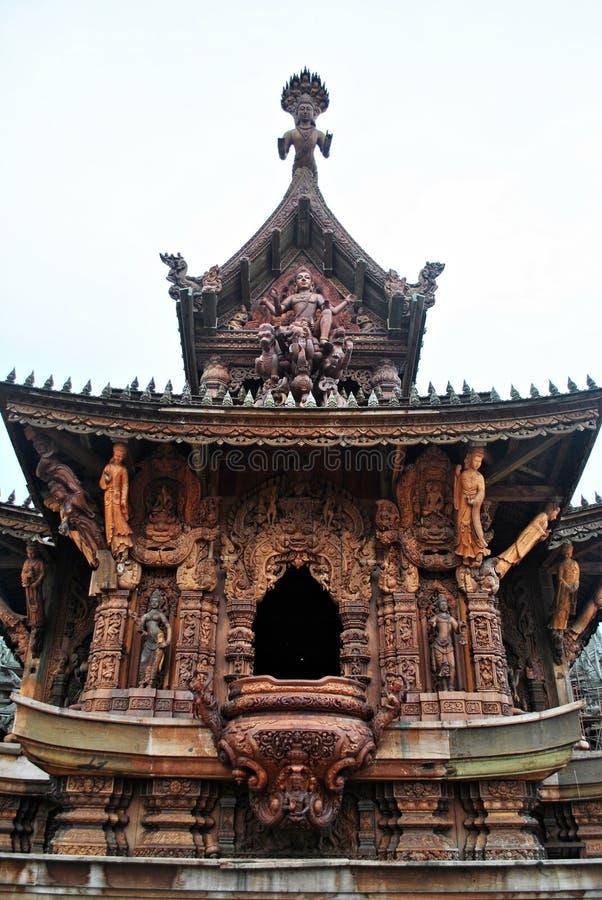 Святилище правды Таиланда стоковые фотографии rf