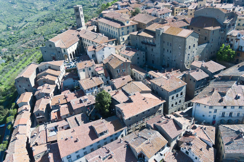 Святилище Санты Margherita в Cortona, Тоскане стоковое изображение rf