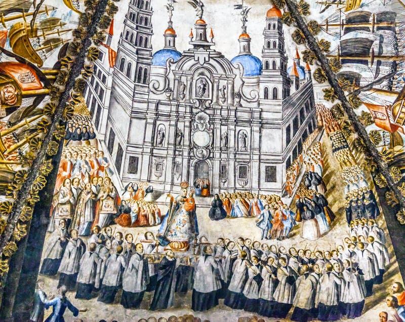 Святилище фрески Севильи испанское Иисуса Atotonilco Мексики стоковое изображение