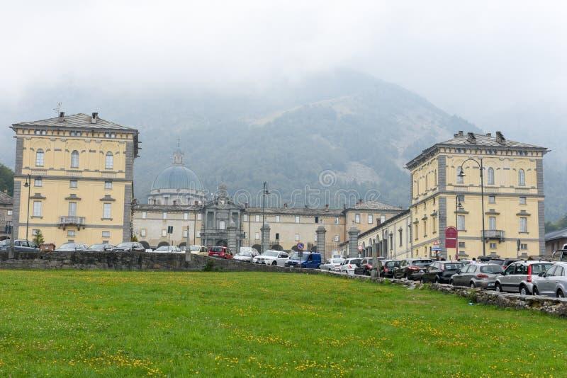 Святилище Oropa на Италии, наследии ЮНЕСКО стоковое изображение