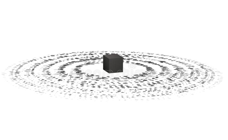 Святое Kaaba в мекке Хадж и umrah абстрактная иллюстрация вектор бесплатная иллюстрация