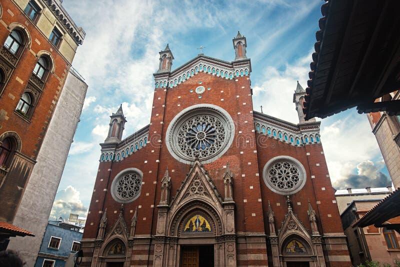 Святой Антоний церков Падуи, альтернативно известный как Sant& x27; Di Padova Антонио в Стамбуле, Турции стоковые фото