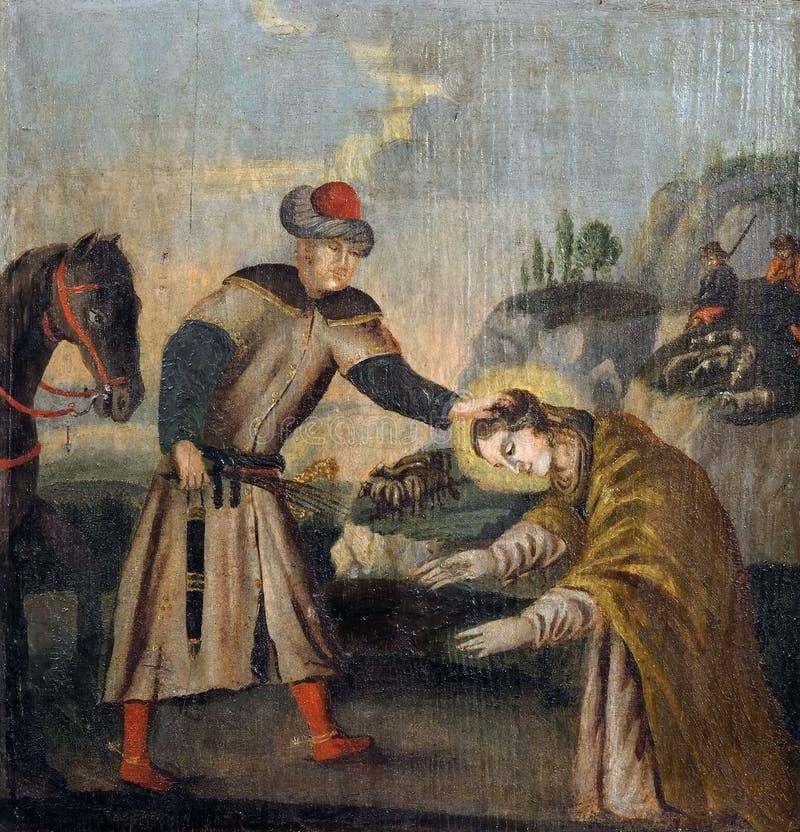 Святой Барбара уловлен в полете стоковые фото