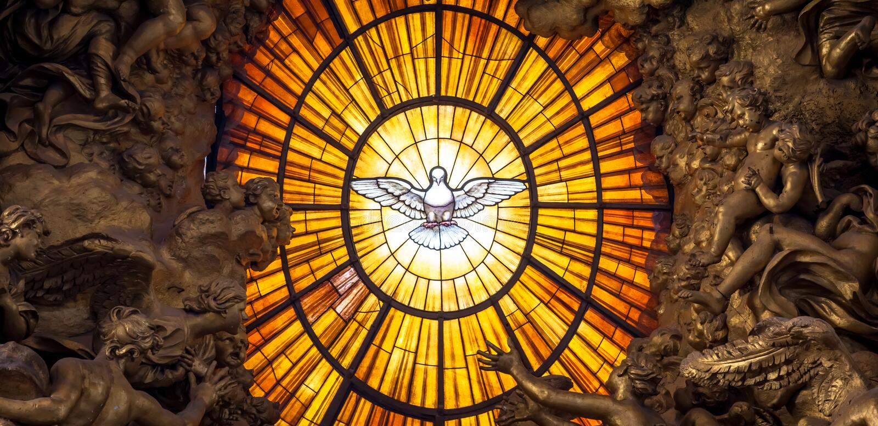 Святой дух Bernini трона нырнул, базилика ` s St Peter в Риме стоковое фото rf