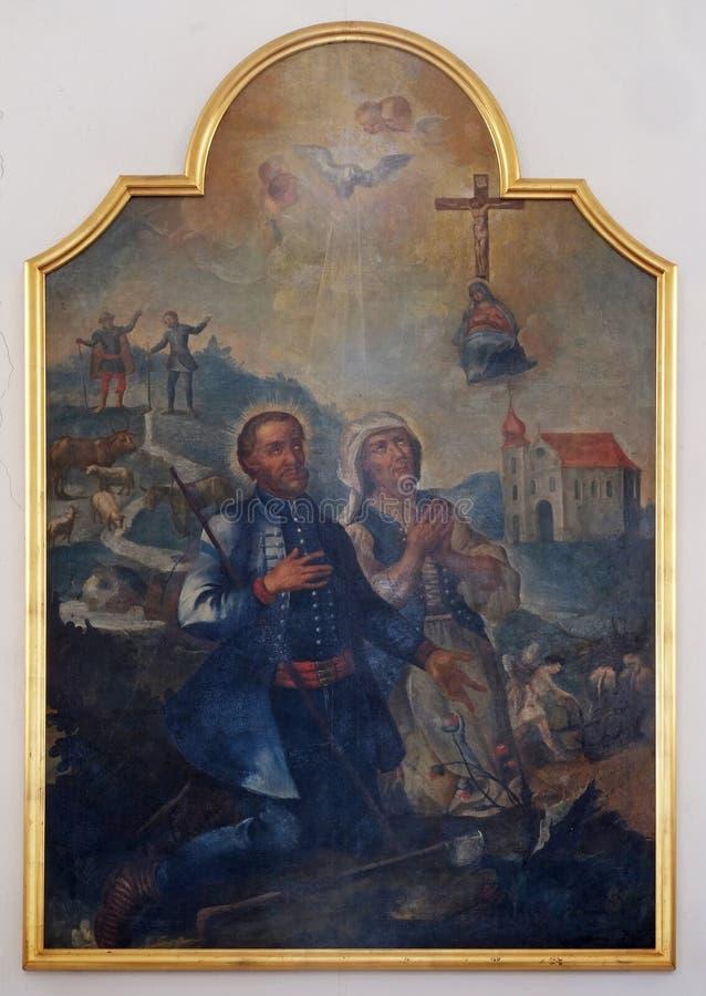 Святой Исидор и Мария Torribia стоковое изображение rf