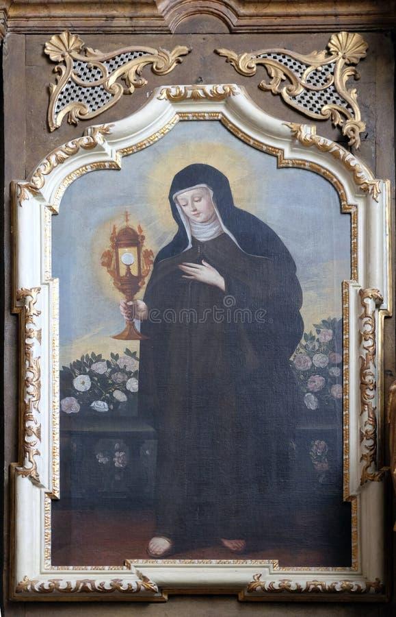 Святой Клара Assisi стоковые изображения rf